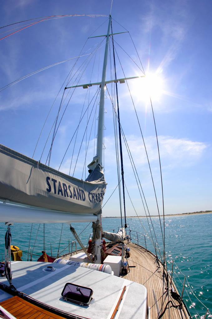 Contact Starsand chartered yacht for cruises and tours in WA